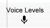 6 Level Voice and Noise Level Visual/Chart for Classroom Behavior