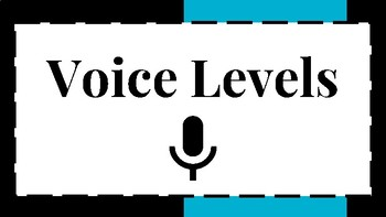 6 Level Voice and Noise Level Visual/Chart for Classroom Behavior Black/Blue