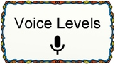 6 Level Voice and Noise Level Visual/Chart for Classroom B
