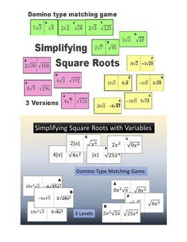 Simplifying/Reducing Square Roots with Variables