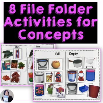 6 Life Skills Folders_ Categories Associations Concepts Coins Times for Autism