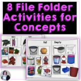6 Life Skills Folders Categories Associations Concepts Coins Times for Autism