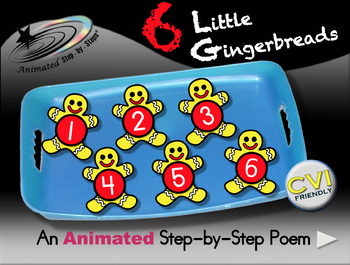 6 Little Gingerbreads - Animated Step-by-Step Poem - VI