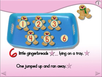 6 Little Gingerbreads - Animated Step-by-Step Poem - Regular