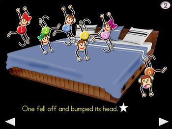 6 Little Monkeys Jumping on the Bed - Animated Step-by-Step Chant - VI