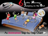 6 Little Monkeys Jumping on the Bed - Animated Step-by-Ste