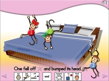 6 Little Monkeys Jumping on the Bed - Animated Step-by-Step Chant - PCS
