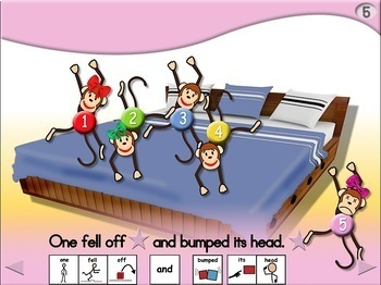 6 Little Monkeys Jumping on the Bed Chant - SymbolStix
