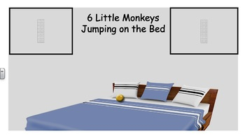6 Little Monkeys Jumping on the Bed Vest Display - PCS