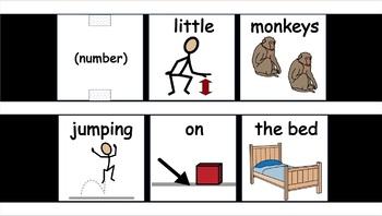 6 Little Monkeys Jumping on the Bed Vest Display - SymbolStix