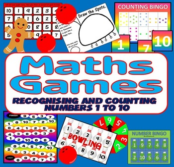 6 MATHS GAMES TEACHING RESOURCES COUNTING & NUMBER NUMERAC