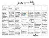 6 MONTHS of Early Learning Activity Calendars- July- December 2018