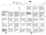 6 MONTHS Early Learning Activity Calendars- July- December