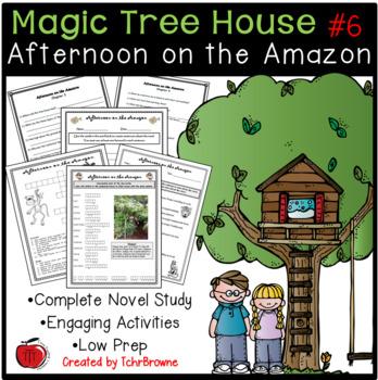6 Magic Tree House Afternoon On The Amazon Novel Study