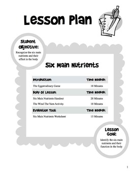 6 Main Nutrients - 5 Day Unit