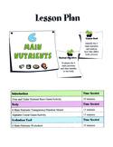 6 Main Nutrients Lesson