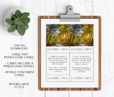 6 Major Land Biomes | 7 Continents | Three Part Cards | Mo