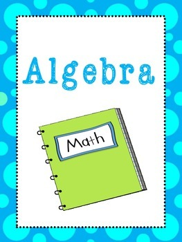 6 Math Subjects Binder Covers and Side Labels. KDG-High School. Homeschool.