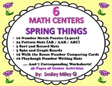 6 Math Centers - Spring Things