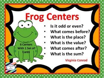Frog Math Center Task Cards