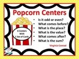 Popcorn Math Center Task Cards