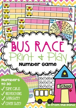 6 Math Games / Centers Pack {Numbers to 30}