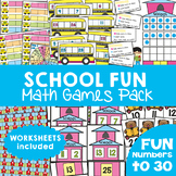 Back to School Math Games / Centers Pack {Numbers to 30}