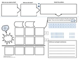 6 Math Graphic Organizers: Word Problems, Vocabulary, Place Value, Regrouping