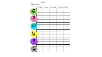 6 Math Stations Organization Bulletin Board Print out