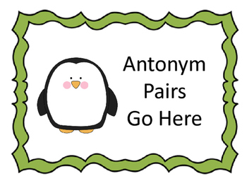 Math and Literacy Centers with a Penguin Theme