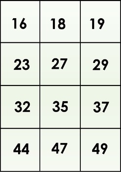 6 Maths Lotto Boards