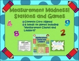 6 Measurement Math Stations + Games (Common Core Aligned 3rd-4th Grade)