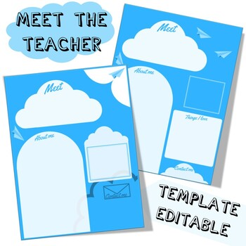 6 Meet the teacher EDITABLE letters - airplane version