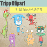 6 Monsters Clipart Collection