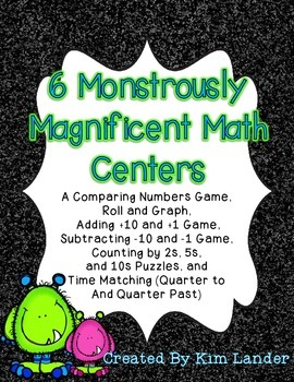 6 Monstrously Magnificent Math Centers - CC Aligned