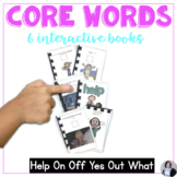 AAC Core Words Interactive Books Help On Off Yes Out What for speech therapy