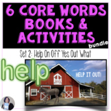 AAC Core Words Books Help On Off Yes Out What and Teaching