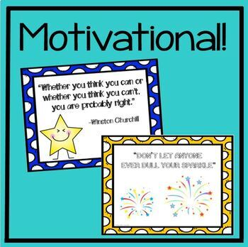 6 Motivational Quotes Classroom Posters