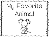 6 Mouse-My Favorite Animal Preschool Trace and Color Worksheets.