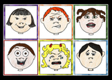 (6) Multicultural Illustrated feeling and emotion printable cards
