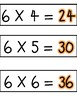 6 Multiples Times Table