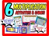 6 Multiplication Games Bundle! Gr: 3-6  Four Levels!