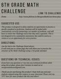 6.NS.1 6th Grade Math Challenge