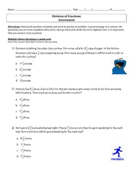 6.NS.1 Assessment - Division of Fractions