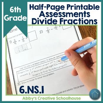 6.NS.1 Assessments Dividing Fractions