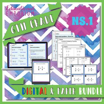 6.NS.1 Bundle ⭐ Quotients of Fractions