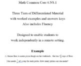 Grade 6 Math - 6.NS.1 Differentiated Lesson Material