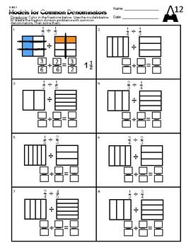 6.NS.1 Models for Common Denominators (Fraction Division)