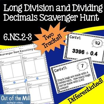 6.NS.2-3 Division Scavenger Hunt