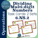 6.NS.2 Dividing Multi Digit Numbers Task Cards